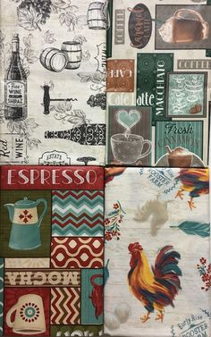 Assorted Sizes / Styles Damask Blue Vinyl / Flannel backed Tablecloth Nantucket Tablecloths, Nantucket, Flannel, Rooster, Decoupage, Wine, Cards, Color, Style