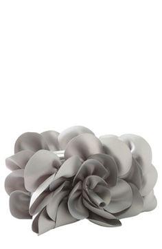 Grey Rose Clutch