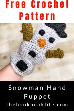 Make this festive holiday snowman puppet using this free crochet pattern on The Hook Nook Life Blog! Save and Click to get started now!