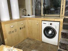 DIY zona fregadero en el proyecto PISOFT Washing Machine, Laundry, Home Appliances, Diy, Laundry Rooms, Heated Towel Rail, Smeg Fridge, Laundry Room, House Appliances