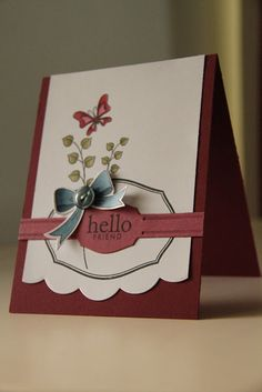 Hello card  by Erin Lincoln for Papertrey Ink (September 2011).