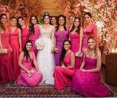 Inspiraçao Madrinhas lindas de rosa