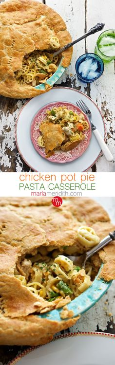 Chicken Pot Pie Pasta Casserole | The ULTIMATE easy & delicious family meal | MarlaMeridith.com