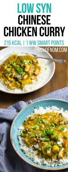 Chinese Chicken Curry – Pinch Of Nom Low Syn Chinese Chicken Curry Slimming World Dinners, Slimming World Recipes Syn Free, Slimming Eats, Chicken Curry Slimming World, Weight Watchers Chicken, Chinese Chicken, Chinese Food, Chinese Meals, Cooking Recipes