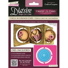 Crafters Companion Diesire Create a Card Accordion Card - Circle Accordion Die - from Mountain Ash Crafts UK