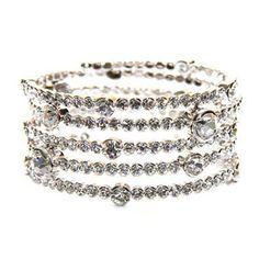 Infinity Crystal Wrap Bracelet - made with Swarovski Elements