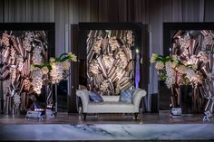 This modern chic New York Indian wedding is not only contemporary, but fit for royalty. One look at this western décor influenced mandap gives you a hint.