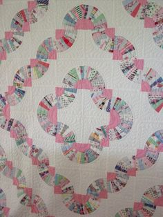 Unusual Snake Trail Fan Quilt | Cindy Rennels Antique Quilts