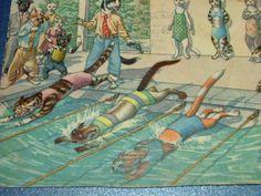 RARE Hartung Kunzli 1957 Mainzer Cat Camera Swimming Race Stopwatch | eBay