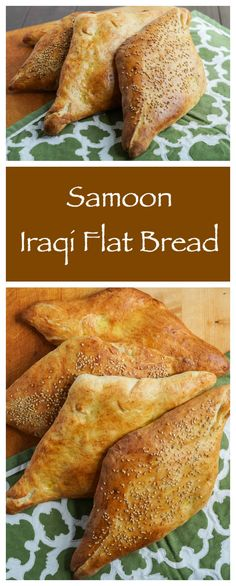 Samoon-Iraqi Flat Bread Explore Iraq with your child with this wonderful recipe for Samoon, a traditional Iraqi flat bread shaped like a diamond. Arabic Bread, Arabic Food, Arabic Dessert, Arabic Sweets, Middle East Food, Middle Eastern Recipes, Middle Eastern Bread, Iraqi Cuisine, Kurdish Food
