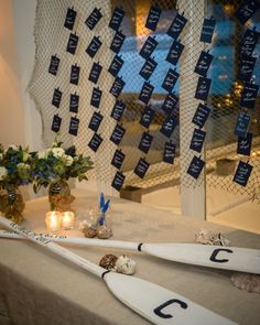 Nautical Hamptons Wedding from Amaranth Photography - wedding escort card table idea