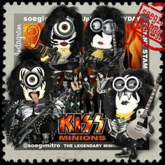 KISS Minions ! ha ha \m/ :-)                                                                                                                                                                                 Más