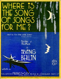 Where is the song of songs for me?, 1928 (ill.: Würth); ref. 10354