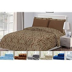 66ee7f7558 Egyptian Luxury 1800 Hotel Collection Bed Sheet Set Bed Sheet Sets, Bed  Sheets, Bed