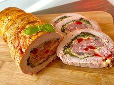 Pieczeń świąteczna - Blog z apetytem Pork Recipes, Cooking Recipes, Homemade Sandwich, Kebab, Good Food, Yummy Food, Xmas Food, Polish Recipes, Easter Recipes