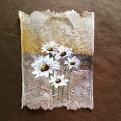 363 days of tea. Day 185. Be happy! #recycled #teabag #art #behappy #lazydaisy