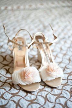 A Whimsical & Romantic Garden Wedding - short wedge heels