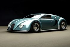 Beautiful. 1945 Bugatti Veyron by RC82 Workchop, inspired by the Volkswagen Beetle.