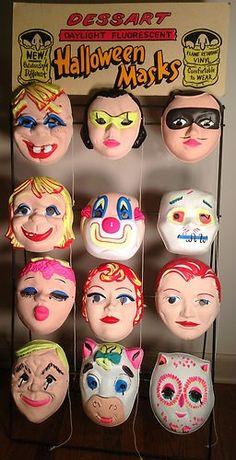 Halloween masks vintage
