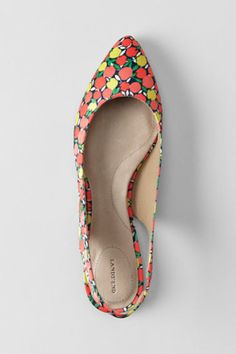 Women's Lucy Pointed Toe Slingback Shoes from Lands' End. I want these so bad! Pretty Sandals, Fab Shoes, Great Hairstyles, Slingback Shoes, Spring Shoes, Girls Best Friend, Footwear, Style Inspiration, My Style