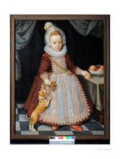 Portrait of a Child with a Rattle, 1611 Impression giclée par Paul van Somer sur AllPosters.fr