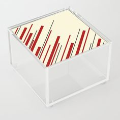 Diagonals - Red & Cream Acrylic Box by laec Good Advice For Life, Storage Places, Acrylic Box, Discover Yourself, Cream, Unique Jewelry, Store, Creme Caramel, Storage