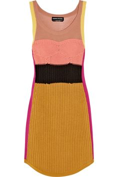 sonia rykiel - knitted dress. colors!