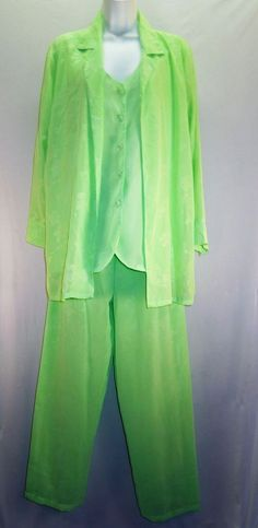 Women S/M #SuzanneSomers #LightGreen #Tunic #PantSet  #Lightweight #Flowy #Breezy #Comfy #Casual #WomensClothes