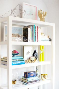 Home Decor | How to Decorate Shelves Like a Pro @stylecaster