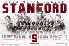 Stanford - 2012 Men's Soccer Schedule Poster Designed by Aaron Villalobos I Old Hat Creative