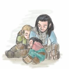 Young Thorin looking after a tired Frerin and Dís !