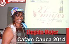 Por su trabajo como docente y una iniciativa denominada la 'Pedagogía de la corridez' para el fomento de la cultura, María Dolores Grueso Angulo,  oriunda del Patía, obtuvo el 1° lugar. Toda la noticia: [http://www.proclamadelcauca.com/2014/11/elegida-mujer-cafam-cauca-2014.html]