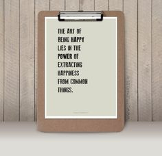 This is one to think about. Yes. :: The art of being happy  Quote by LittleMars