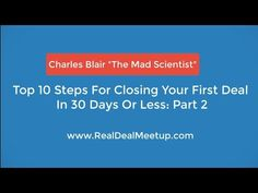 Top 10 Steps For Closing Your First Deal | Part 2 | Learn Real Estate Investing Baltimore