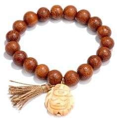 ShopStyle: Stretch Beaded Buddha & Tassel Bracelet