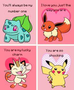 Pokemon Valentines Day Cards