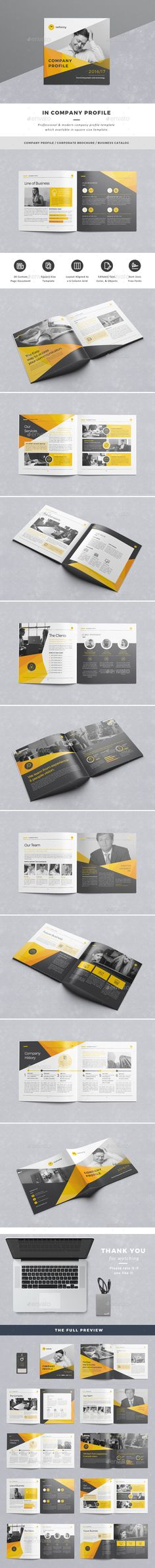 #Company Profile - Corporate Brochures.Download here: http://graphicriver.net/item/in-company-profile/16254032?ref=arroganttype