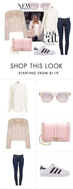 """""""cool winter sunnies and fur"""" by zoey-boo on Polyvore featuring Joseph, Linda Farrow Luxe, Alice + Olivia, Rebecca Minkoff, Frame Denim, adidas Originals and wintersunnies"""