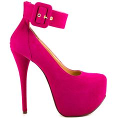 You'll feel as if you need extra treatment in the Xtra Special.  This confident Luichiny style sports a fuchsia micro suede upper with a thick adjustable ankle strap.  A zipper in the back, tall 6 inch heel and 2 inch concealed platform perfect this looker