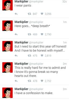 Read this from bottom to the top Pewdiepie, Markiplier Memes, Youtuber Tweets, Funny Google Searches, Danti, All Jokes, Youtube Memes, Darkiplier, Funny Memes