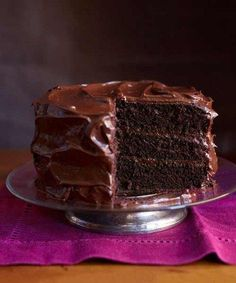 My go to recipe since I began cooking in the early 60's, the flavor is unbeatable. It is the best Chocolate Cake recipe ever and easy to make. My grandmother taught it to me but she got it out of the Good Housekeeping Magazine in the 20's or 30's