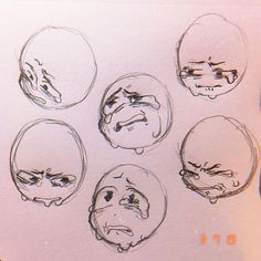 """Pretty crying is overrated 😜😜😘💖💖 . Actually tho- I get p annoyed when I see neutral-faced aesthetic af girls drawn crying. it's confusing…"" Anime Faces Expressions, Drawing Expressions, Emotions Drawing, Cute Drawings, Drawing Sketches, Drawing Tips, Drawing Ideas, Sketching, Arte Sketchbook"