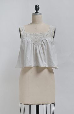 New Mornings Camisole / antique Edwardian camisole / antique 1910s top