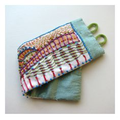 Hand Painted and Embroidered Impressionistic Colorful Cuff, by Madrigal Embroidery on Etsy.