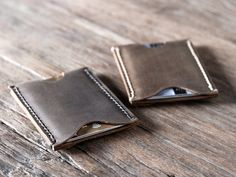 Wallet Leather Sleeve Card Wallet Business Card Holder by JooJoobs