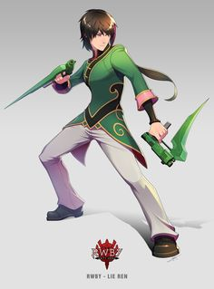 Lie Ren by uyalago on DeviantArt Rwby Anime, Rwby Fanart, Rwby Ren, Neon Katt, Lie Ren, Character Art, Character Design, Rwby Comic, Rwby Ships