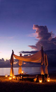 Romantic Beach Dining at Conrad Rangali Island, Maldives
