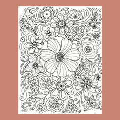 Flower Coloring Page Abstract Flower Coloring Page Floral