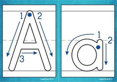 $ Playdough Mats - Alphabet with Correct Letter Formation