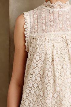 les fleurs lace top / anthropologie
